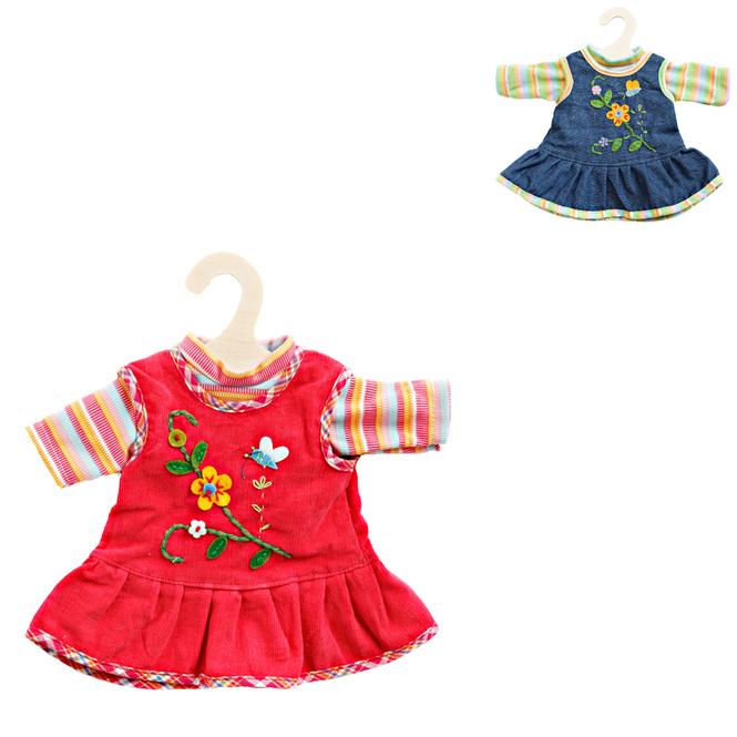 Puppenkleid mit Langarm-Shirt - 34-45 cm