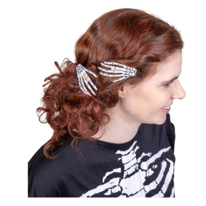 Haarklammern - Skeletthände - 2 Stück