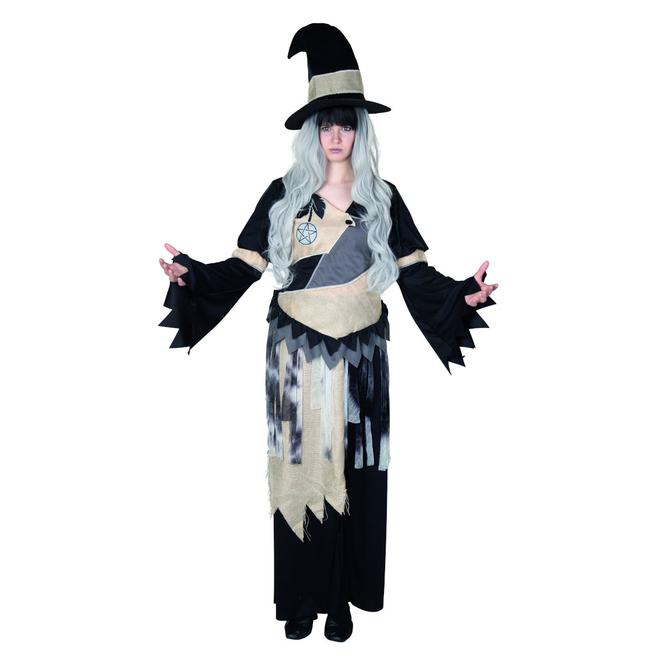 Kostüm - Pentagramm-Hexe - für Erwachsene - 2-teilig - verschiedene Größen