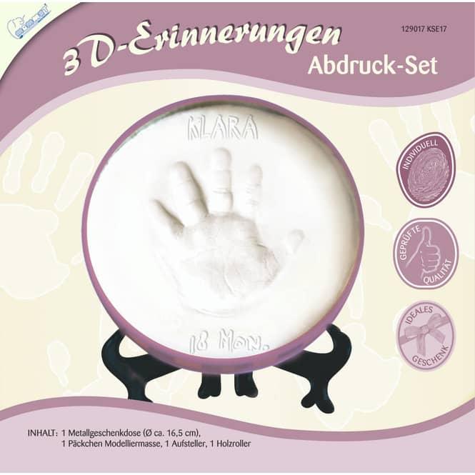 3D-Erinnerungen - Abdruck Set - Geschenkdose - lila