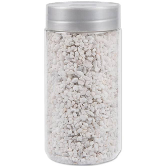 Dekosteine - 550 g - in weiß