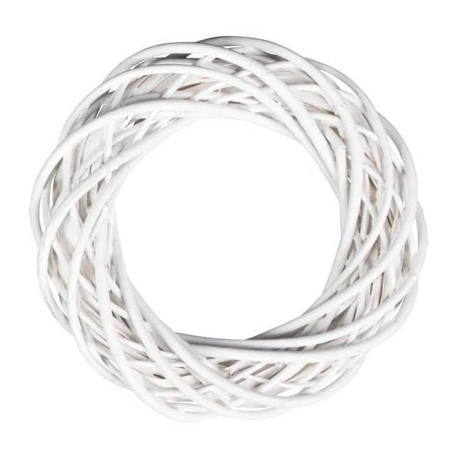 Dekokranz - aus weißer Spaltweide - 35 cm