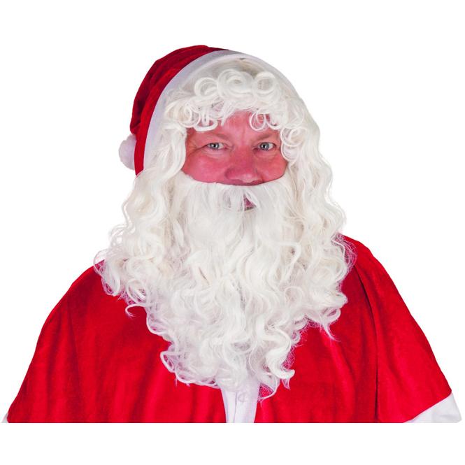 Perücke für Erwachsene - Weihnachtsmann - mit Bart
