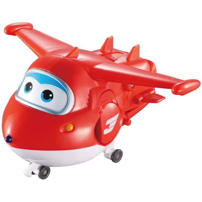 Super Wings - Transformer Spielfigur - Jett - ca. 12 cm