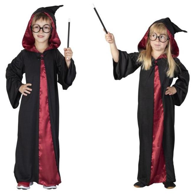 Kostüm - Zauberer - für Kinder - 3-teilig - Größe 146/152