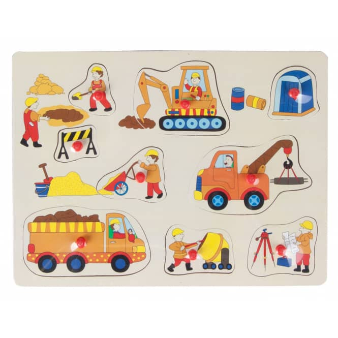 Besttoy - Holz-Puzzle - Baustelle - 9 Teile
