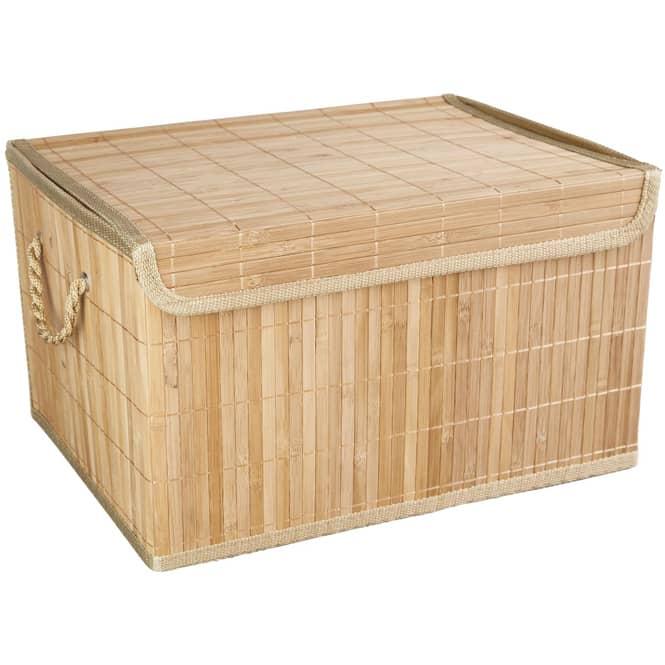 Aufbewahrungskiste - aus Bambus - natur - in klein