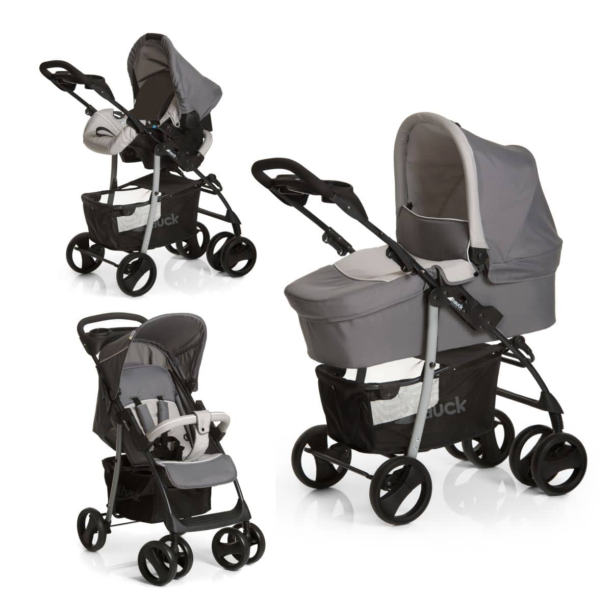 hauck shopper slx trio kinderwagen set stone grey. Black Bedroom Furniture Sets. Home Design Ideas