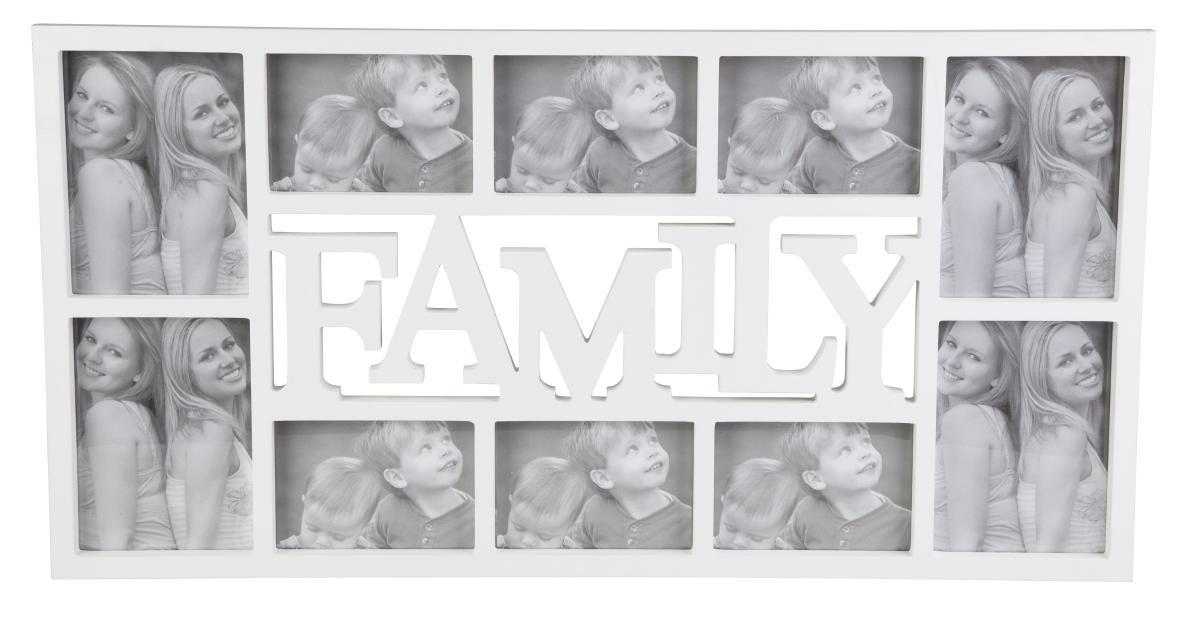 bilderrahmen collage family aus holz kaufen. Black Bedroom Furniture Sets. Home Design Ideas