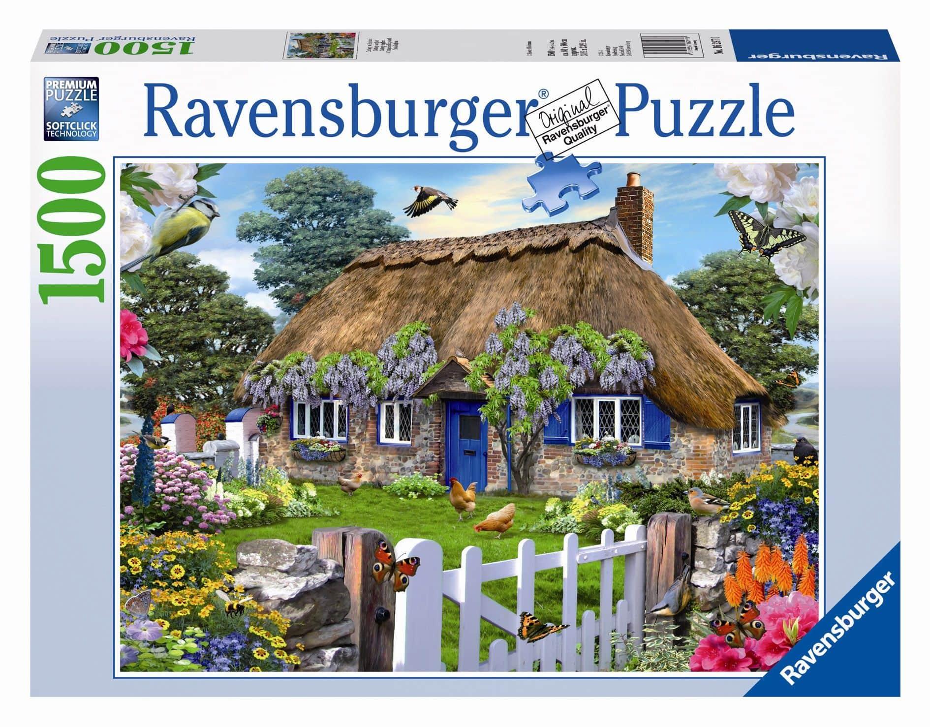 puzzle cottage in england 1500 teile g nstig online kaufen. Black Bedroom Furniture Sets. Home Design Ideas