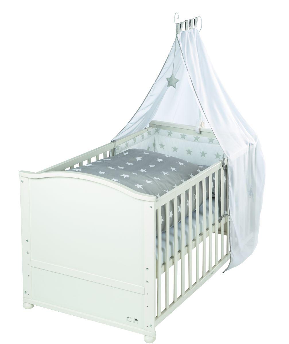 roba kombi kinderbett lukas little stars ma e 70 x. Black Bedroom Furniture Sets. Home Design Ideas
