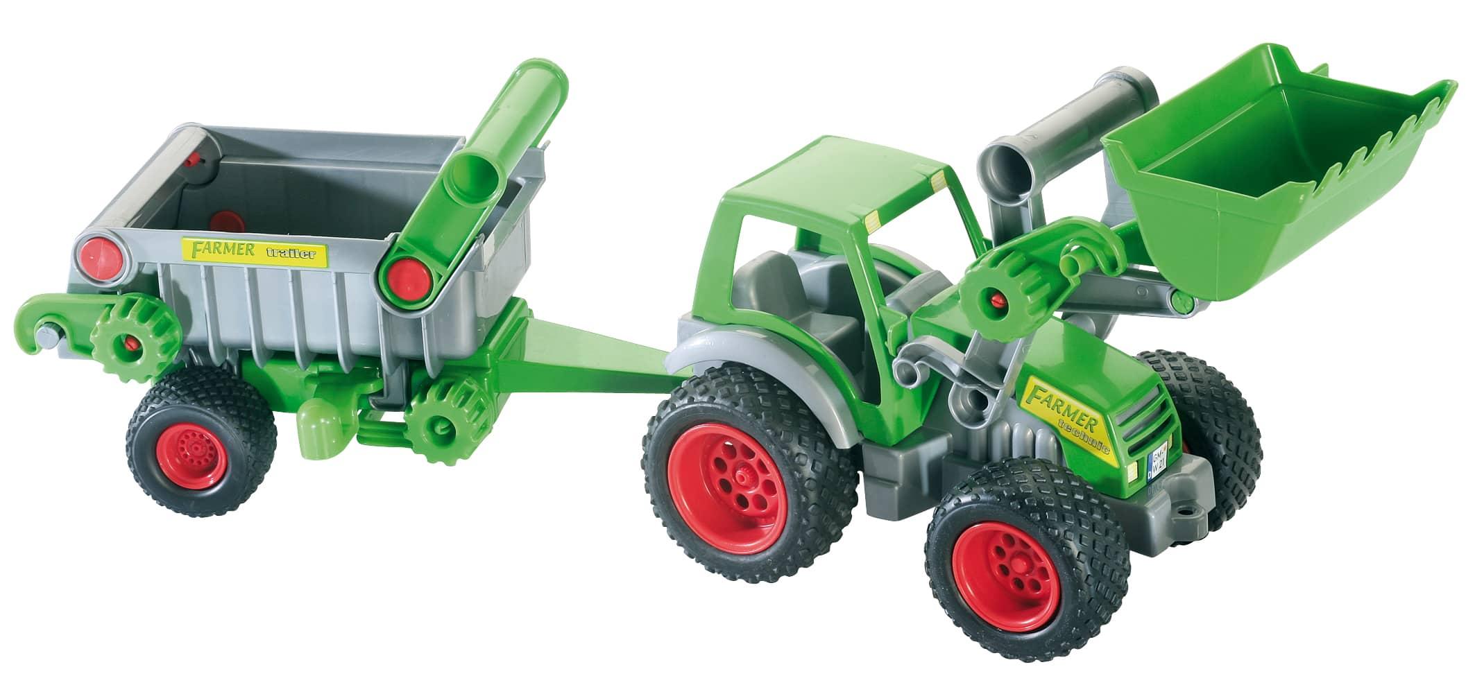 Wader traktor mit frontlader und kippanhänger mifus