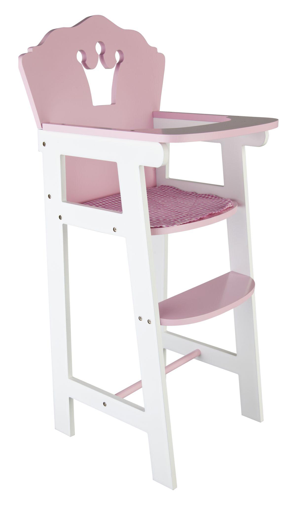 puppenhochstuhl holz rosa wei online kaufen. Black Bedroom Furniture Sets. Home Design Ideas