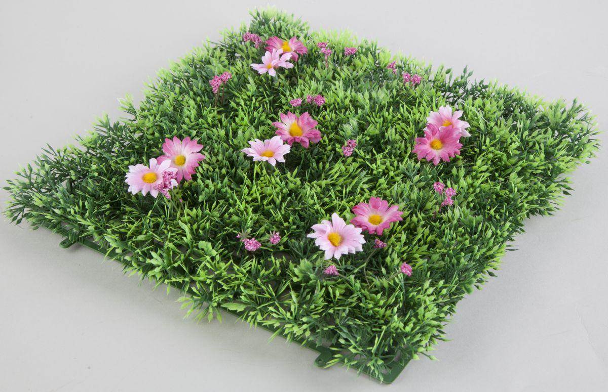 grasmatte mit pink rosa blumen ma e 25 x 25 cm g nstig. Black Bedroom Furniture Sets. Home Design Ideas