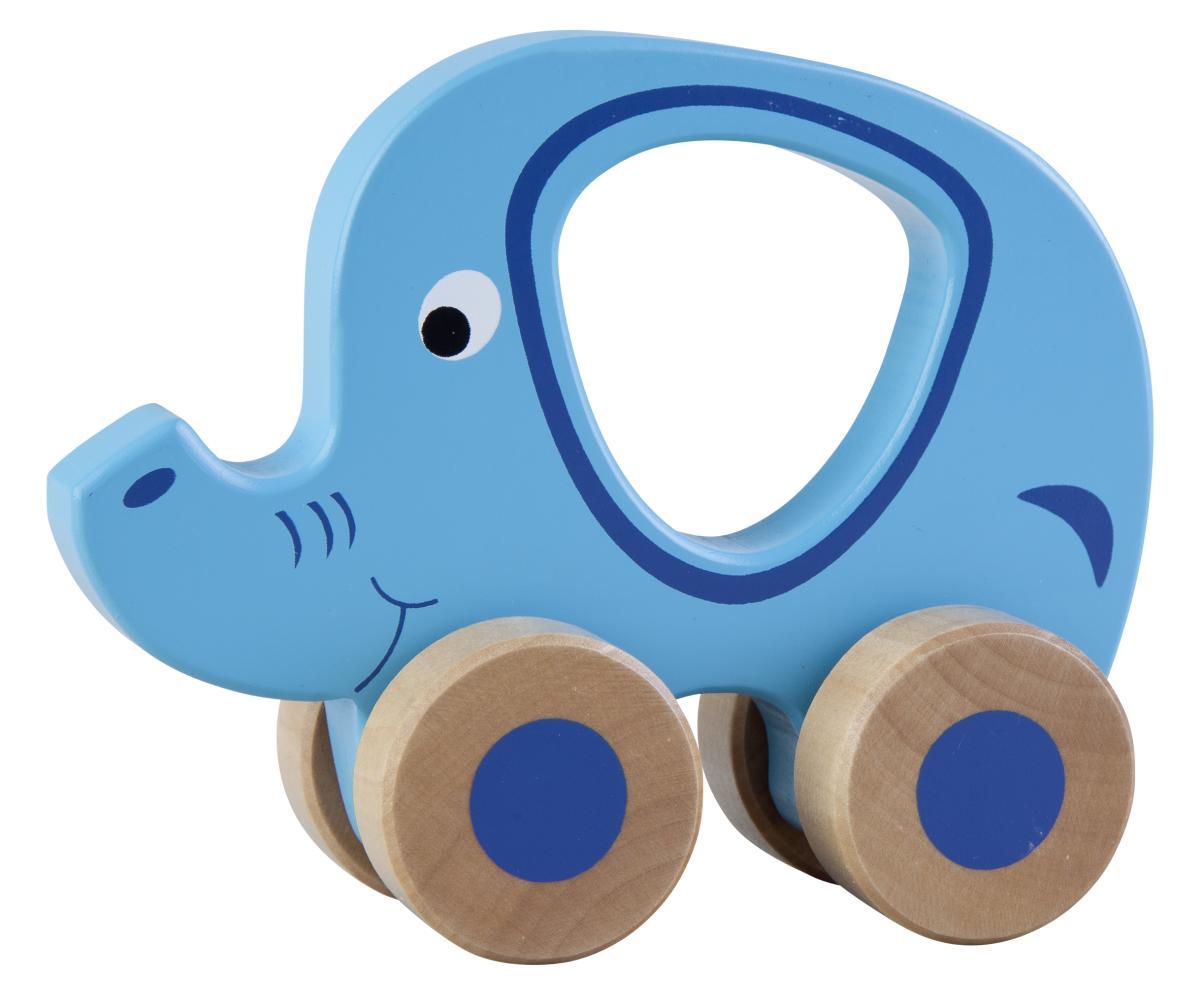 holz elefant mit rollen g nstig online kaufen. Black Bedroom Furniture Sets. Home Design Ideas