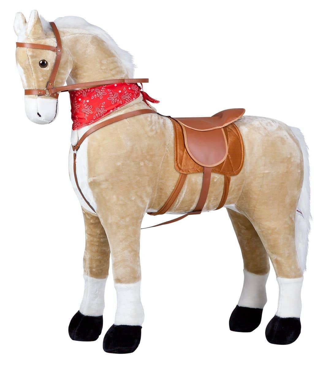 Pferd Plüsch Reiten Plüsch Pferd Beige Stehend 115