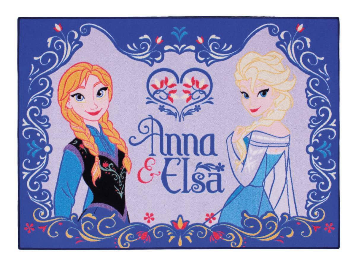 Teppich Anna und Elsa  Die Eiskönigin günstig online