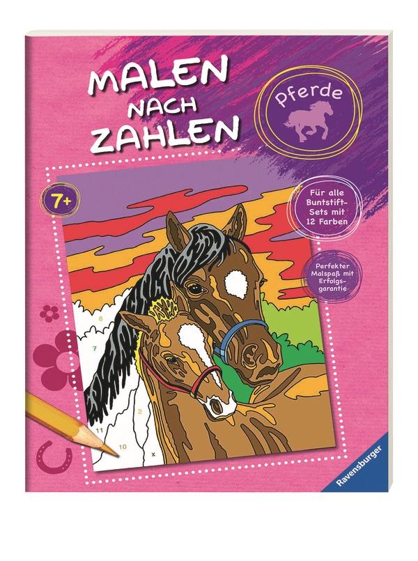 malen nach zahlen malbuch  pferde günstig online kaufen