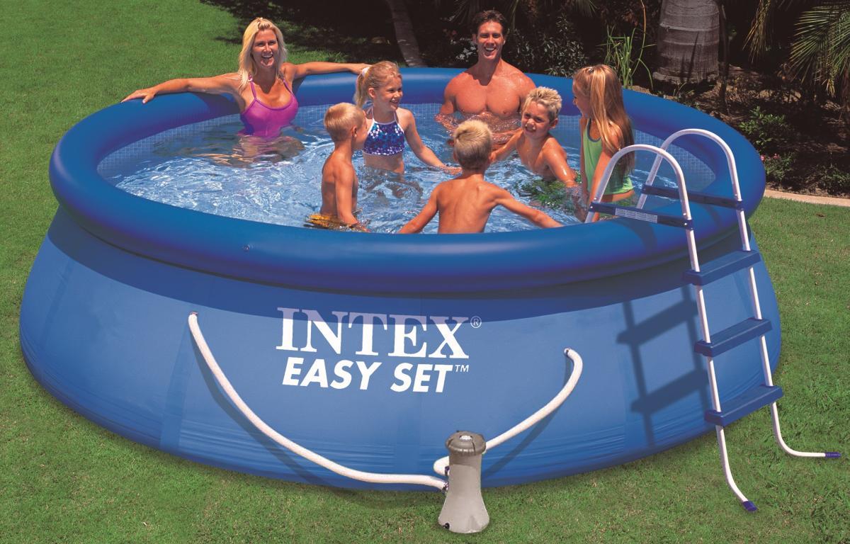 intex easy pool set 366x76 cm mit 12v filterpumpe. Black Bedroom Furniture Sets. Home Design Ideas