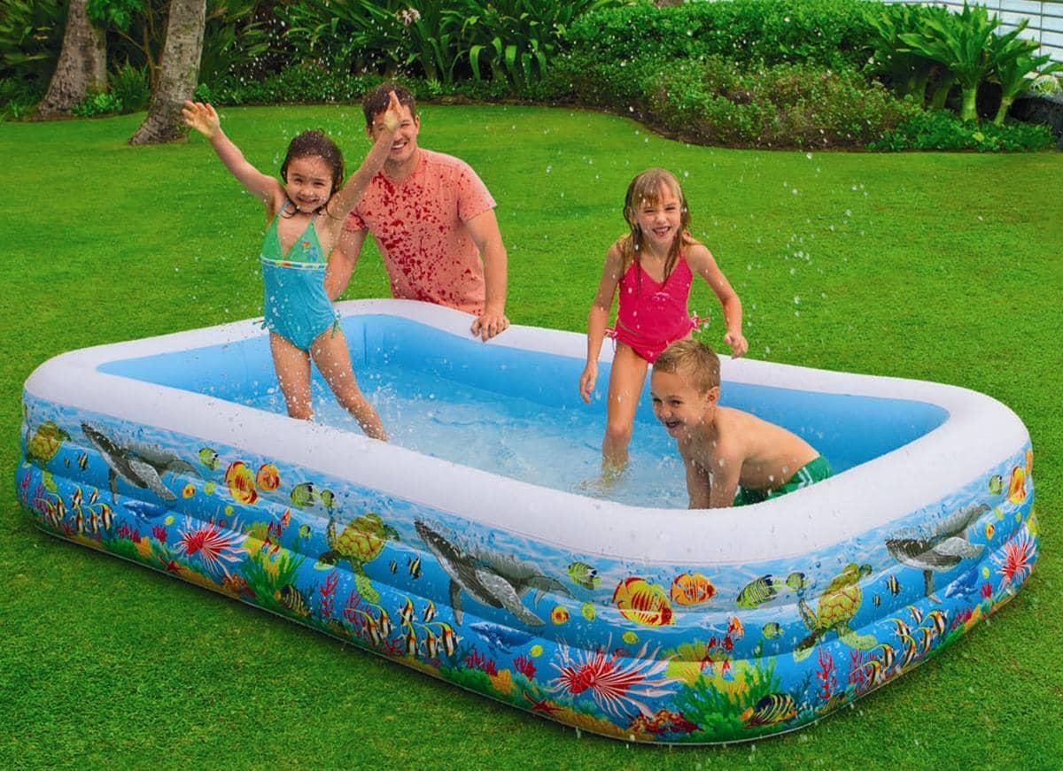 intex swim center tropical reef family pool. Black Bedroom Furniture Sets. Home Design Ideas