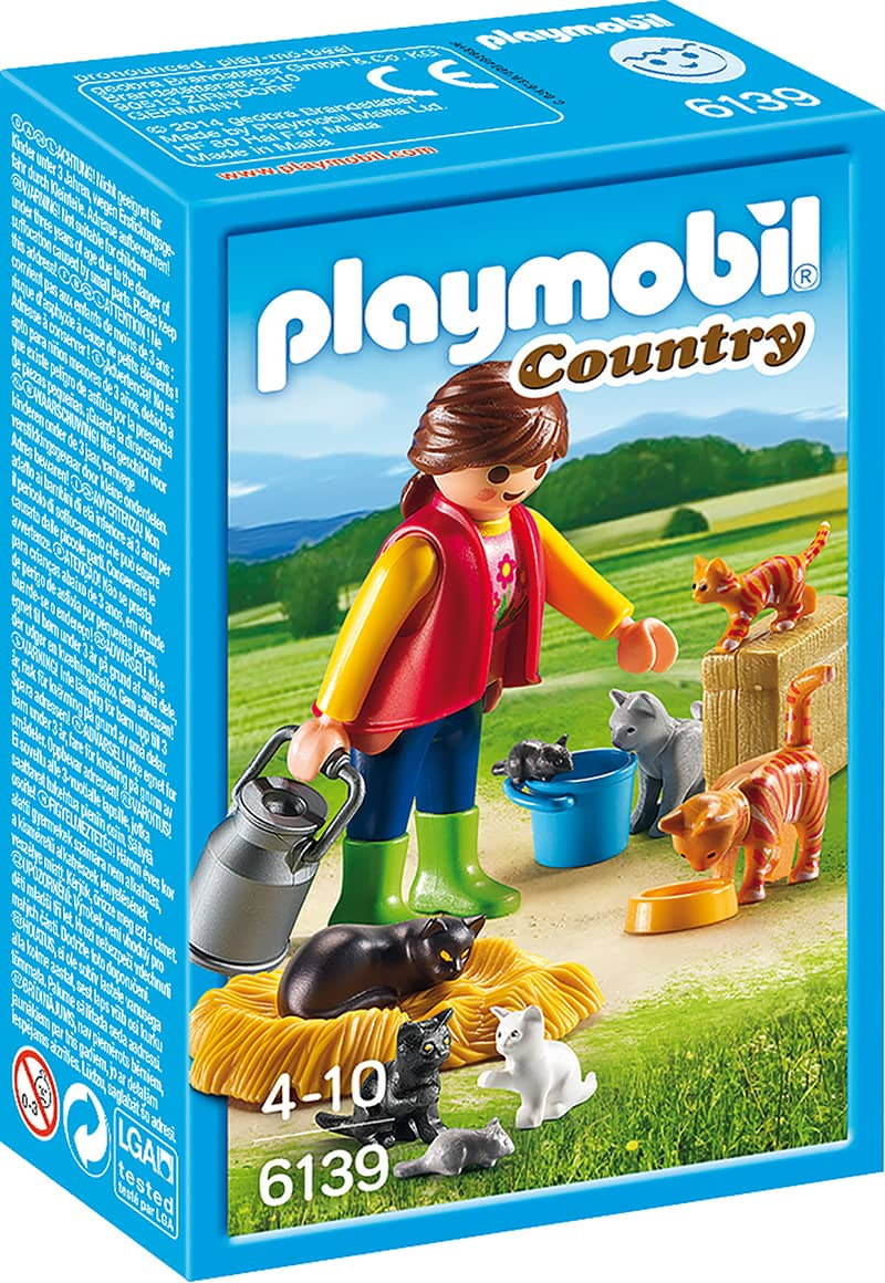 playmobil 6139 bunte katzenfamilie playmobil country. Black Bedroom Furniture Sets. Home Design Ideas