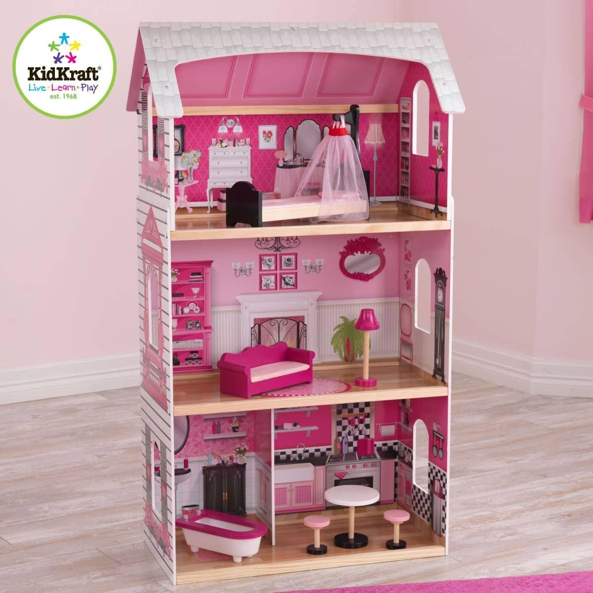 puppenhaus bonita rosa kidkraft g nstig online kaufen. Black Bedroom Furniture Sets. Home Design Ideas