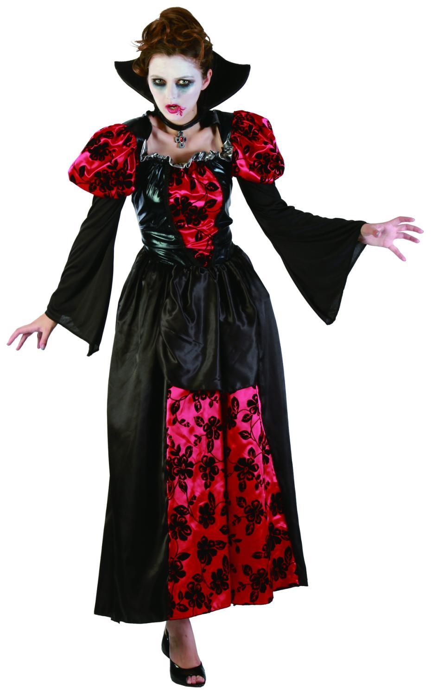 kost m vampirk nigin f r erwachsene schwarz rot g nstig. Black Bedroom Furniture Sets. Home Design Ideas