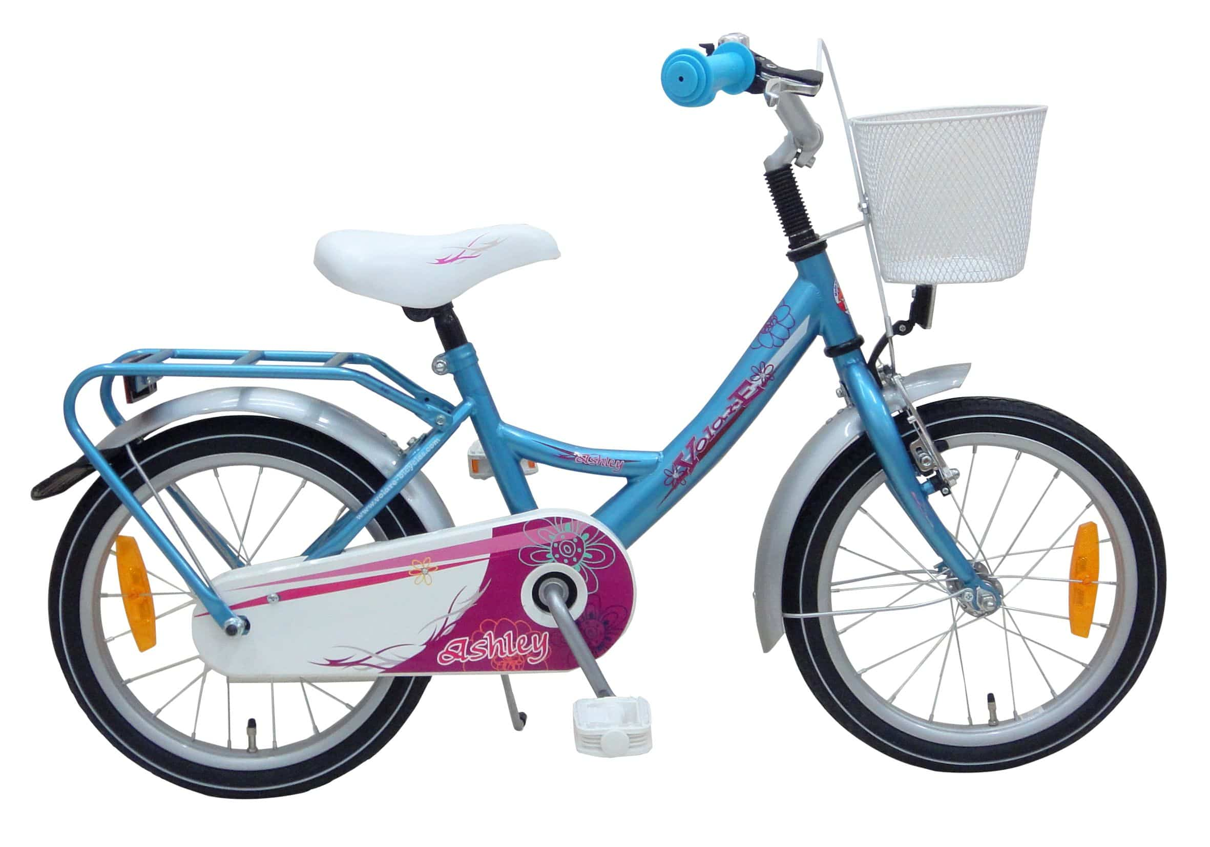 fahrrad 16 zoll ashley blau wei pink kaufen. Black Bedroom Furniture Sets. Home Design Ideas