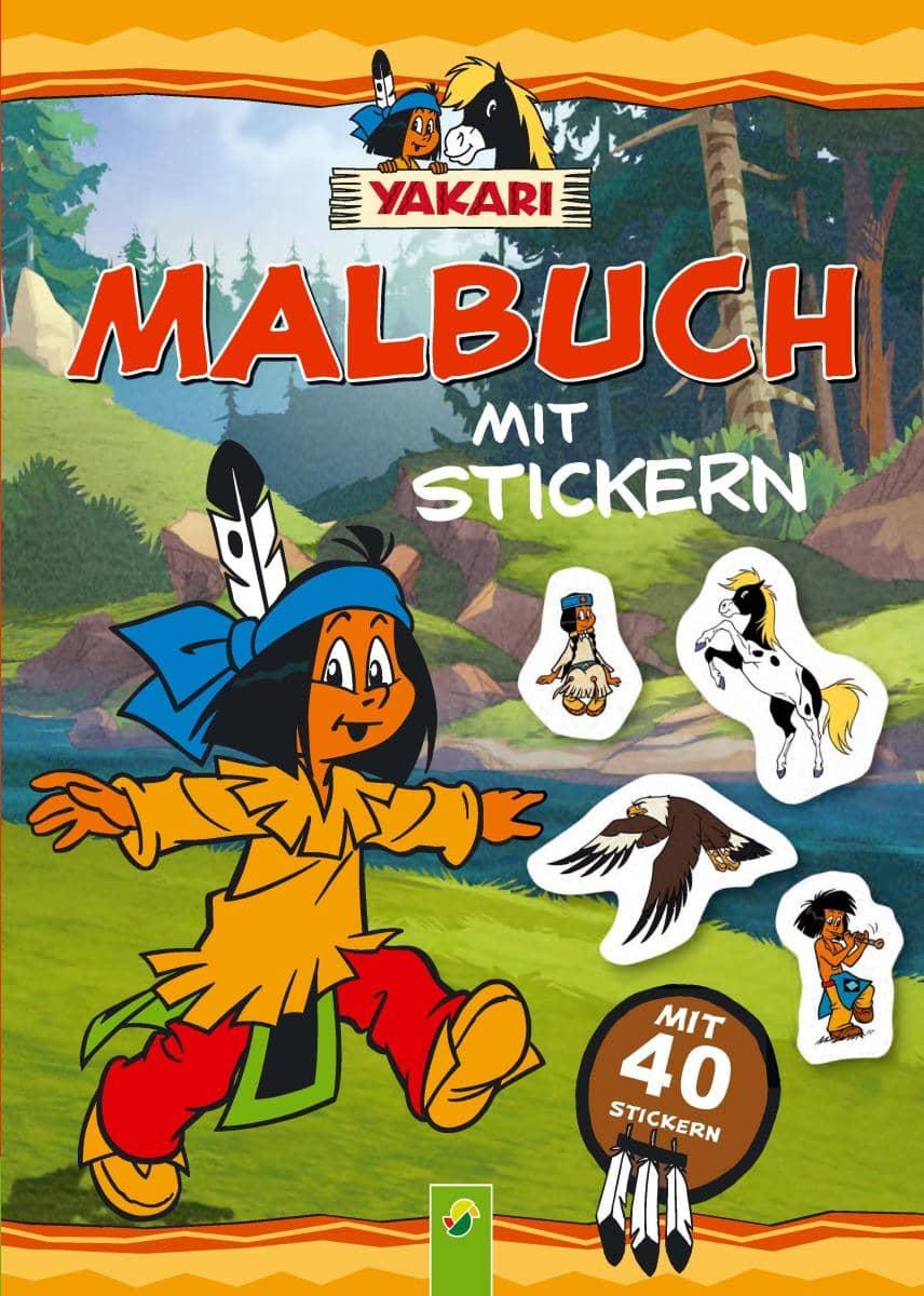 Yakari malbuch mit stickern g nstig online kaufen for Yakari dekoration