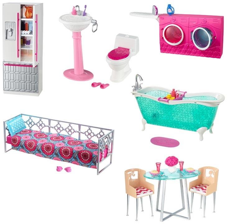 barbie m bel verschiedene sets erh ltlich g nstig. Black Bedroom Furniture Sets. Home Design Ideas