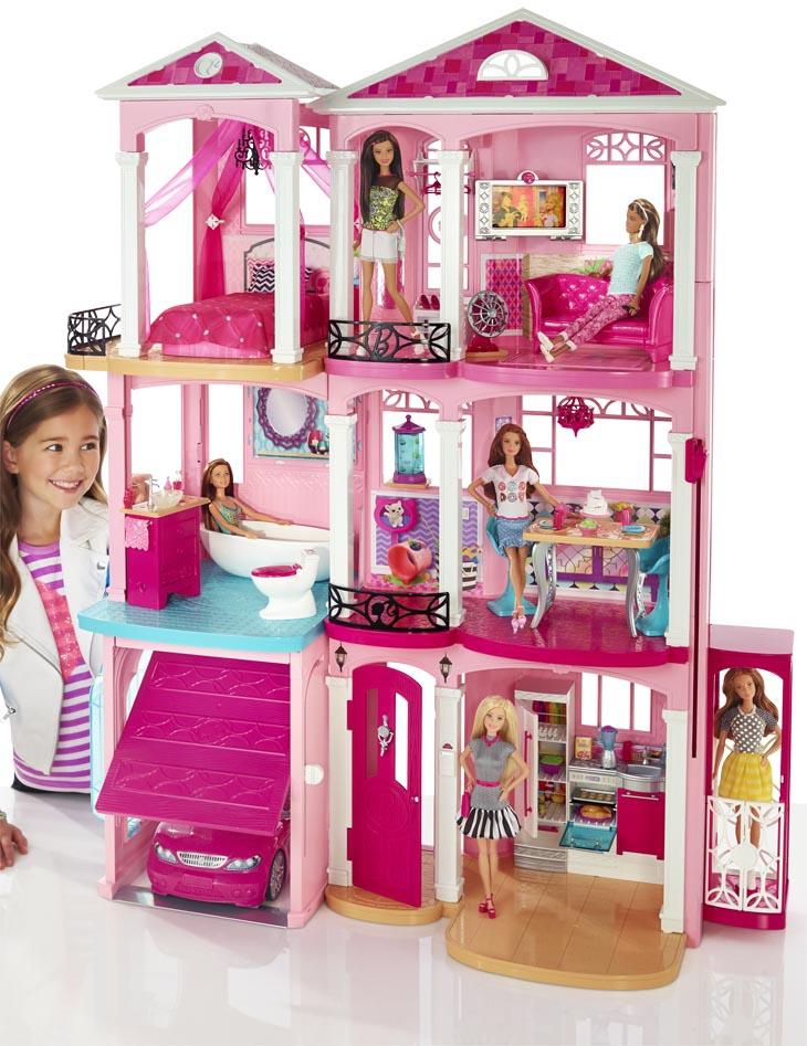 barbie traumvilla 120cm g nstig online kaufen. Black Bedroom Furniture Sets. Home Design Ideas