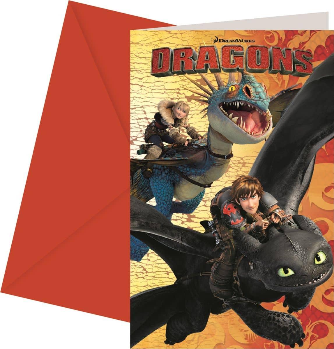 Dragons Einladungskarten