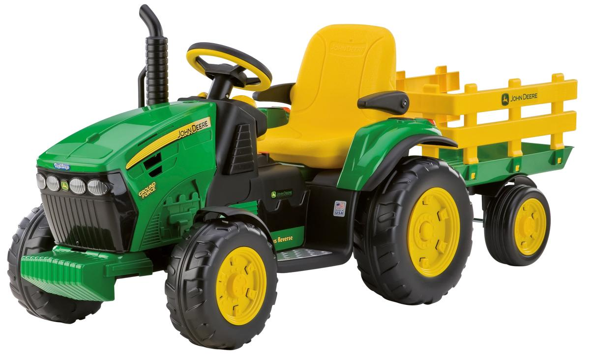 peg perego elektrofahrzeug john deere traktor mit anh nger. Black Bedroom Furniture Sets. Home Design Ideas