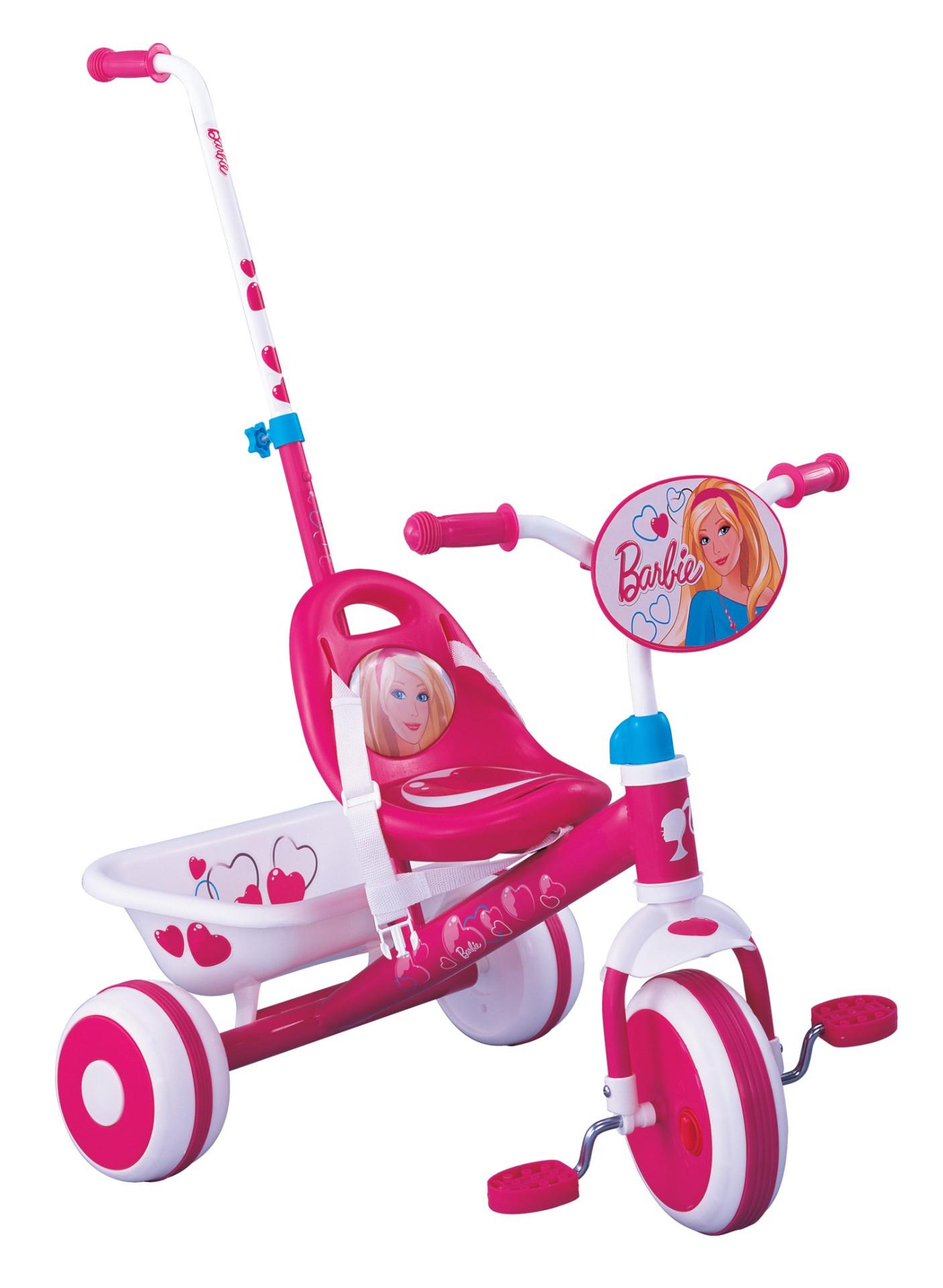 Dreirad Mit Schiebestange Barbie Dreirad Mit Schubstange