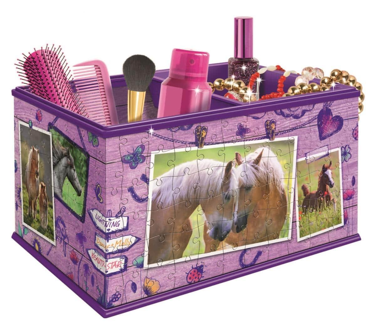 3d puzzle aufbewahrungsbox pferde 216 teile g nstig online kaufen. Black Bedroom Furniture Sets. Home Design Ideas