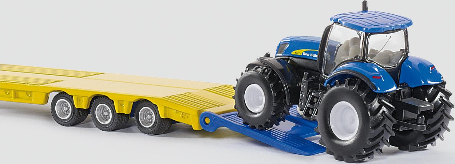siku farmer 1805 lkw mit new holland traktoren 1 87. Black Bedroom Furniture Sets. Home Design Ideas