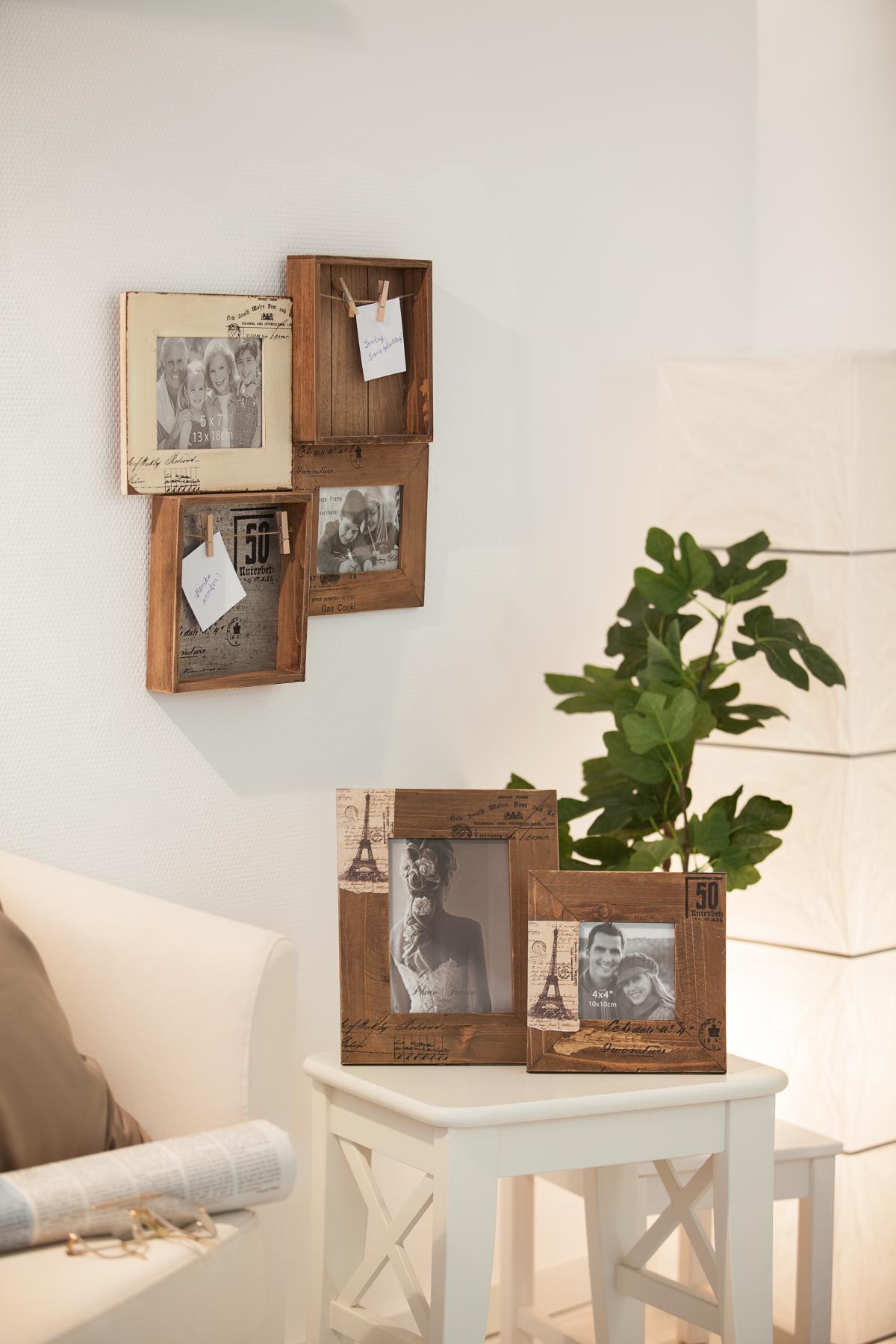 bilderrahmen f r 1 foto 10x10 cm aus holz 19x1 5x19 cm g nstig online kaufen. Black Bedroom Furniture Sets. Home Design Ideas
