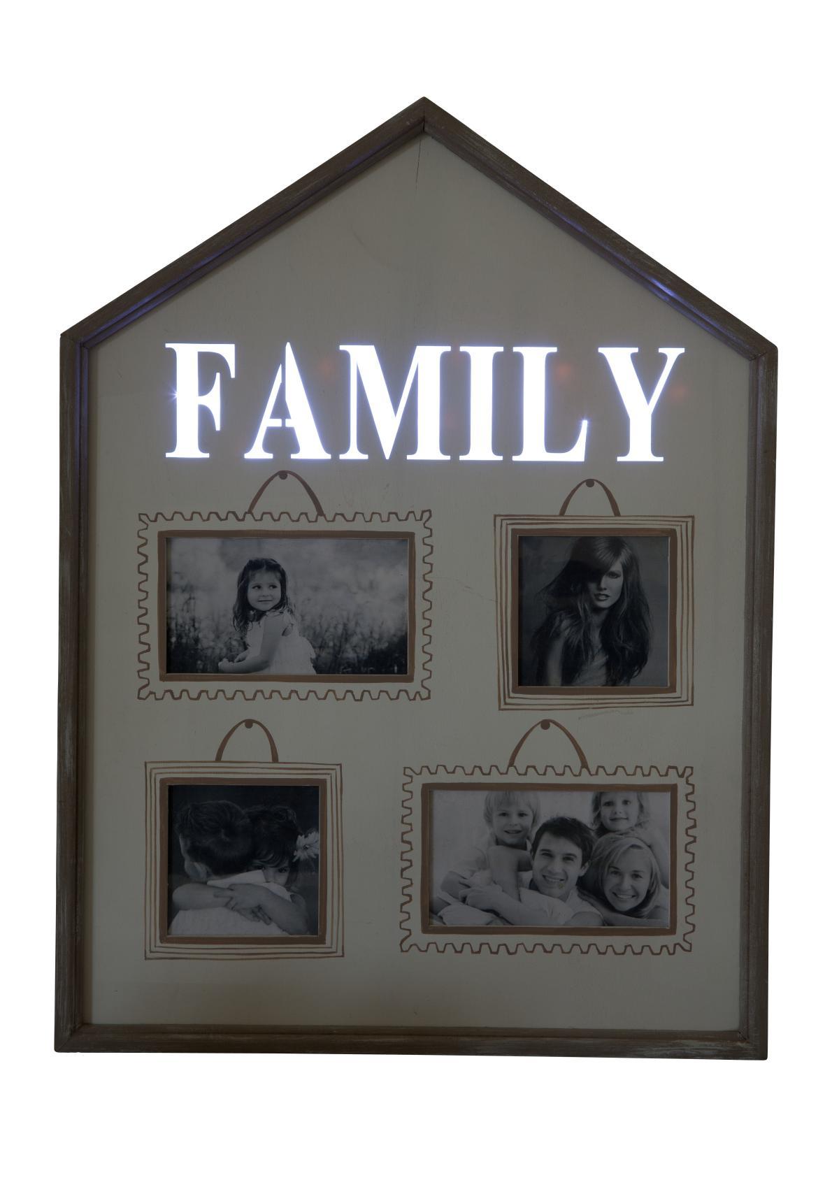 beleuchteter bilderrahmen family online kaufen. Black Bedroom Furniture Sets. Home Design Ideas