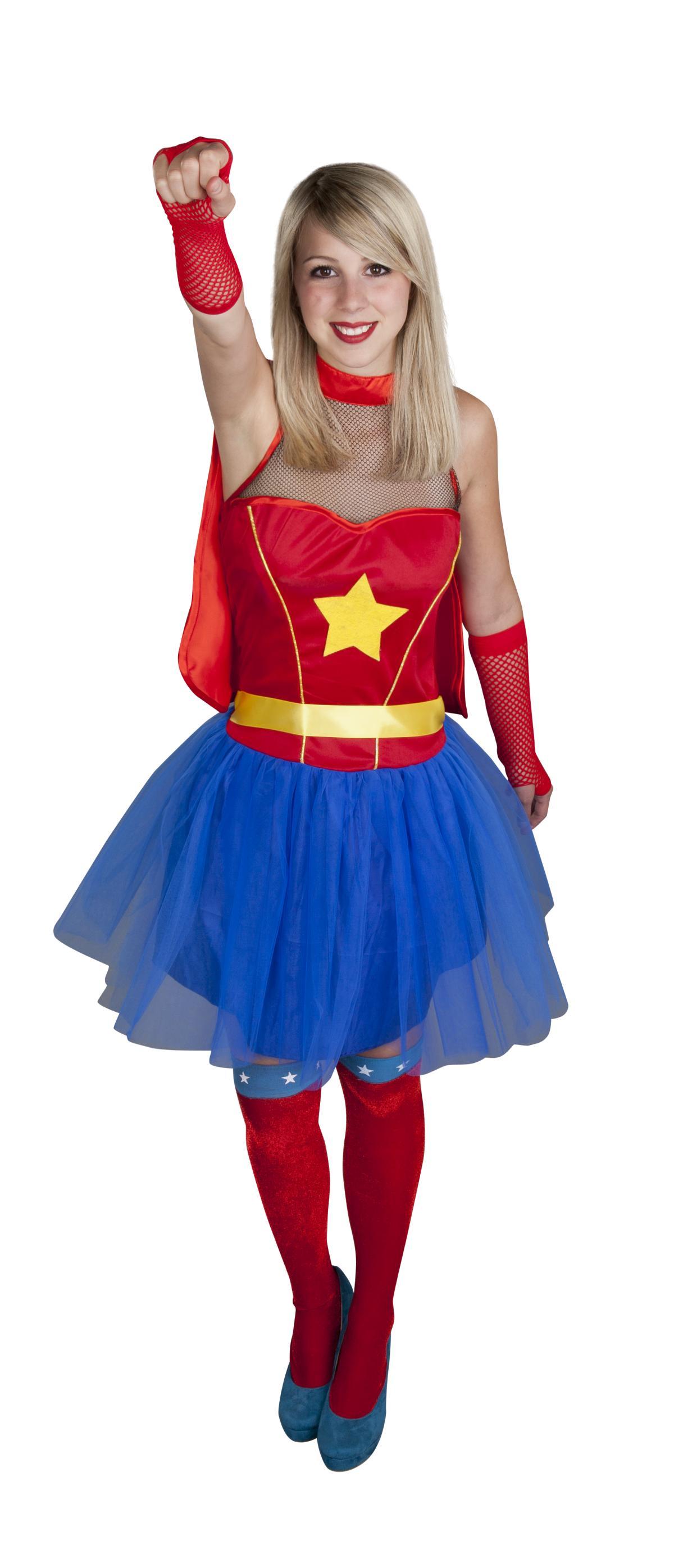 overknees supergirl f r erwachsene g nstig online. Black Bedroom Furniture Sets. Home Design Ideas
