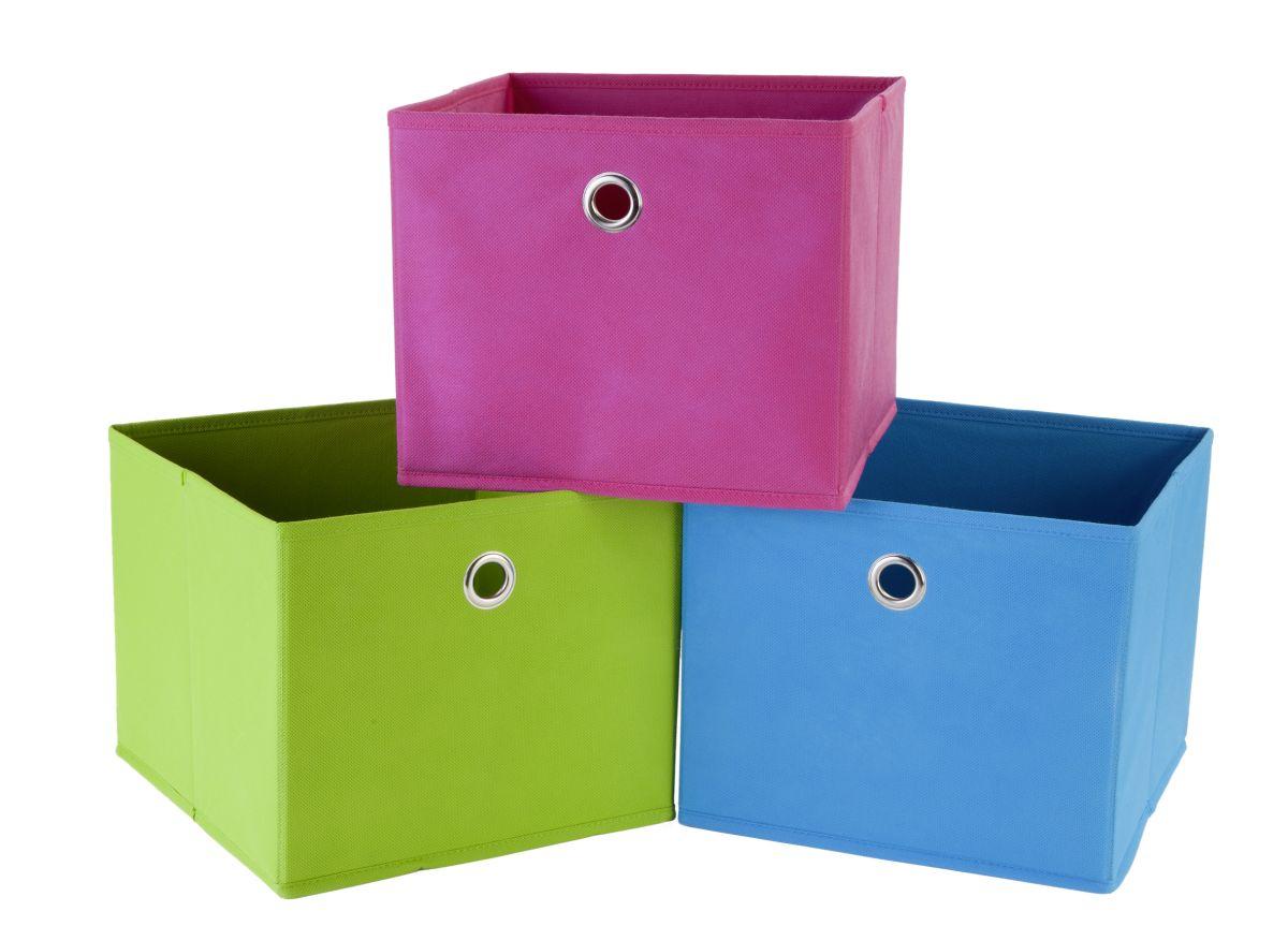 aufbewahrungsbox blau faltbar 25x25x21cm g nstig online. Black Bedroom Furniture Sets. Home Design Ideas
