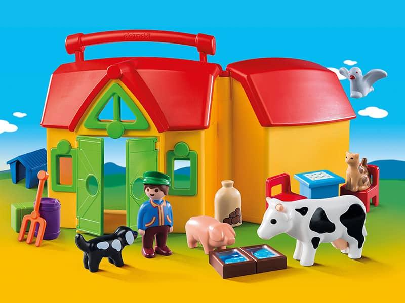 Playmobil 174 6962 Mein Mitnehm Bauernhof Playmobil 1 2 3