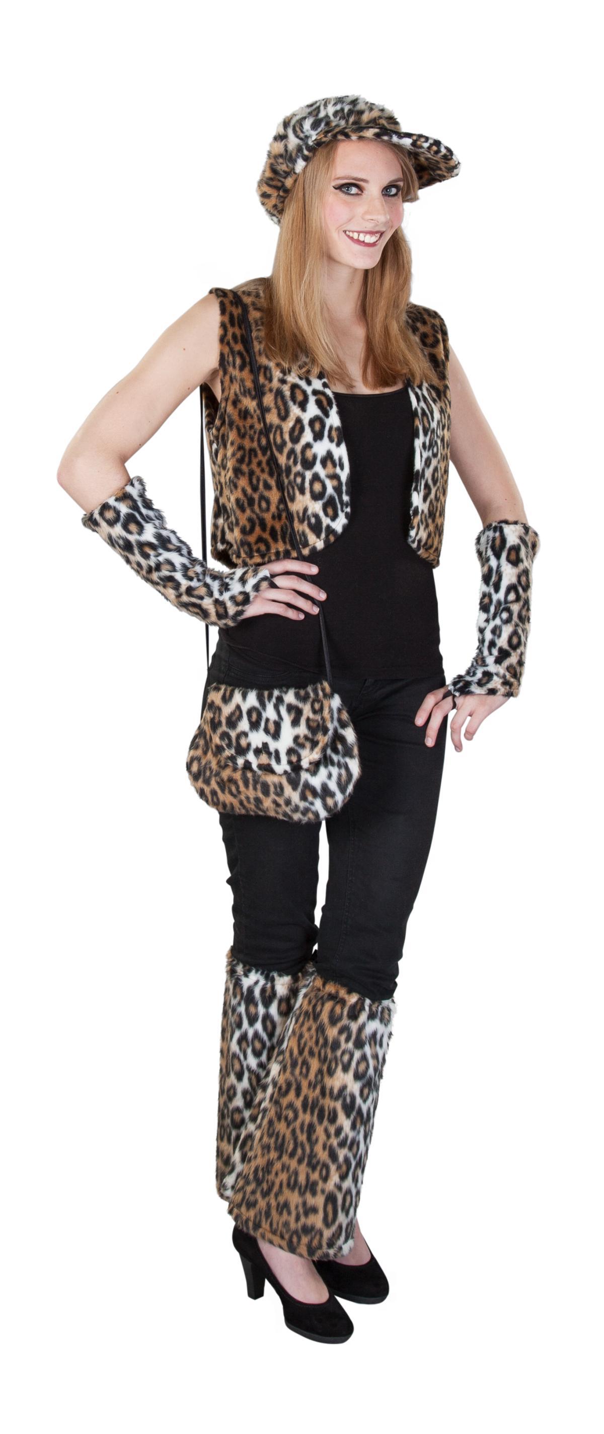 handschuh leopard aus pl sch f r erwachsene g nstig. Black Bedroom Furniture Sets. Home Design Ideas