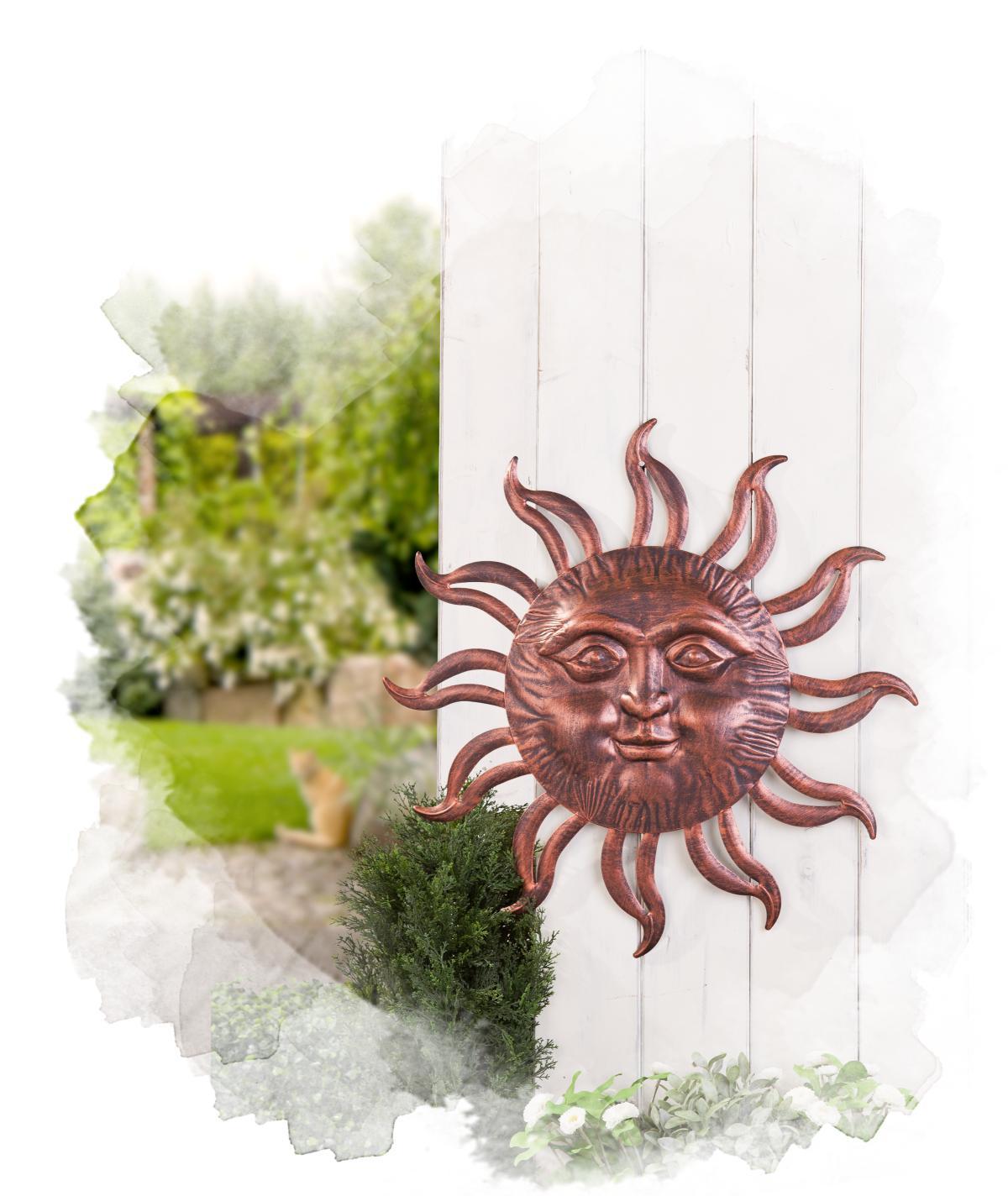 Wanddekoration - Sonne - aus Metall - Ø = 61 cm günstig online ...