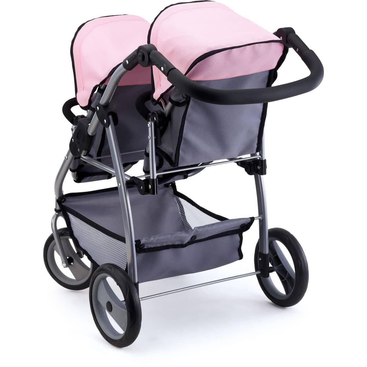 zwillings puppenwagen rosa grau bayer design g nstig. Black Bedroom Furniture Sets. Home Design Ideas
