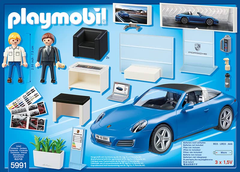 playmobil 5991 porsche 911 targa 4s in blau mit licht. Black Bedroom Furniture Sets. Home Design Ideas