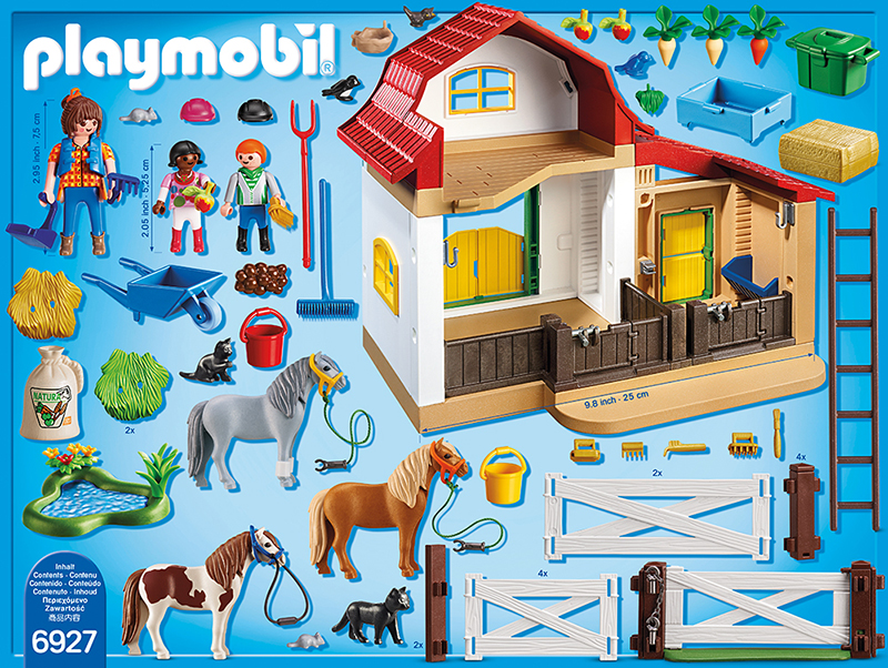 playmobil 6927 ponyhof playmobil country g nstig. Black Bedroom Furniture Sets. Home Design Ideas