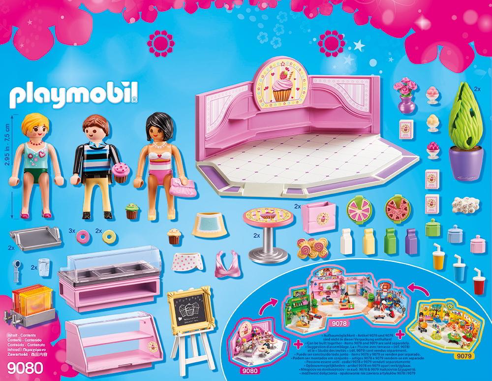 playmobil 9080 caf cupcake playmobil city life. Black Bedroom Furniture Sets. Home Design Ideas