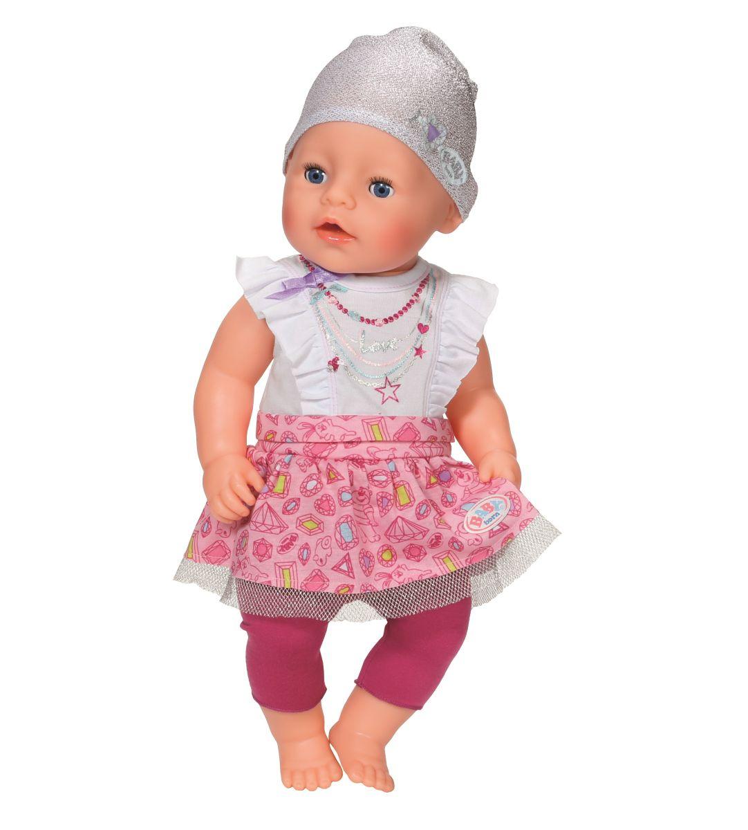 baby born kleidung mit leggins und oberteil von zapf. Black Bedroom Furniture Sets. Home Design Ideas
