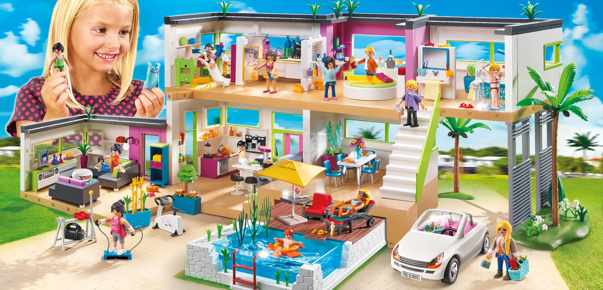 Playmobil maison moderne for Photos maison playmobil