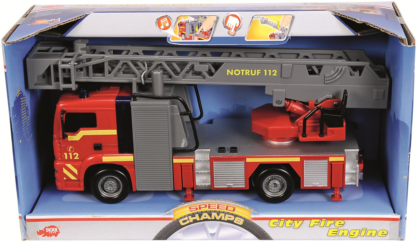 city fire engine dickie feuerwehr g nstig online kaufen. Black Bedroom Furniture Sets. Home Design Ideas